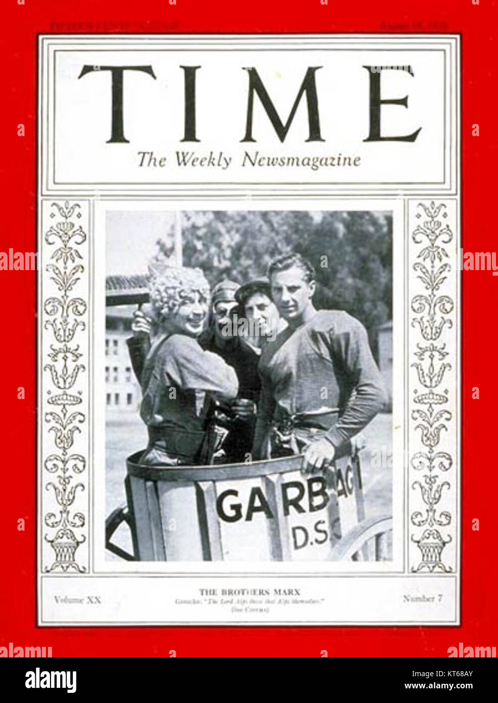 Time Magazine Cover Marx Brothers - Stock Image