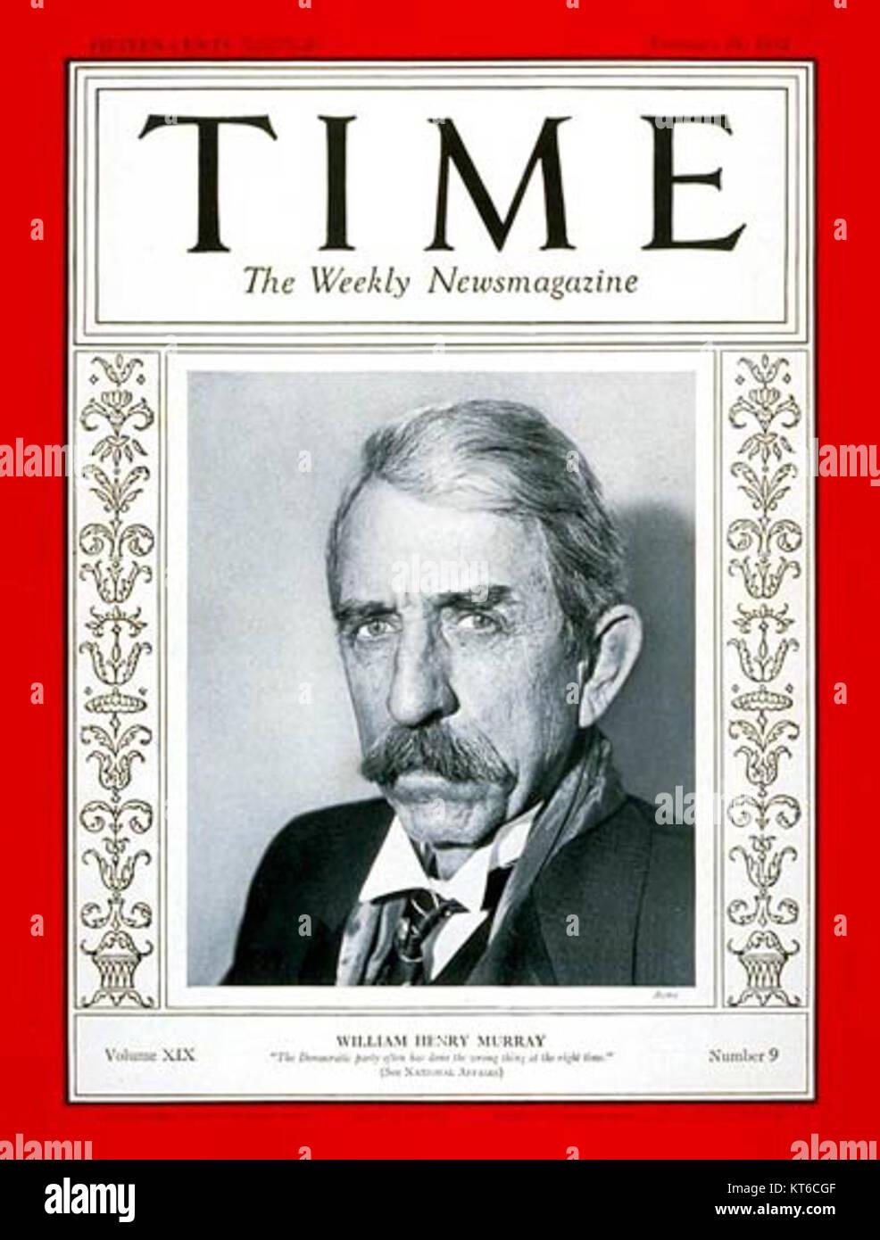 William H. Murray Time Magazine - Stock Image