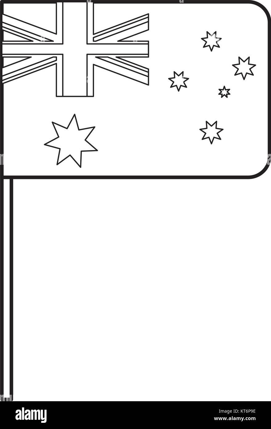 flag of australia  vector illustration - Stock Image