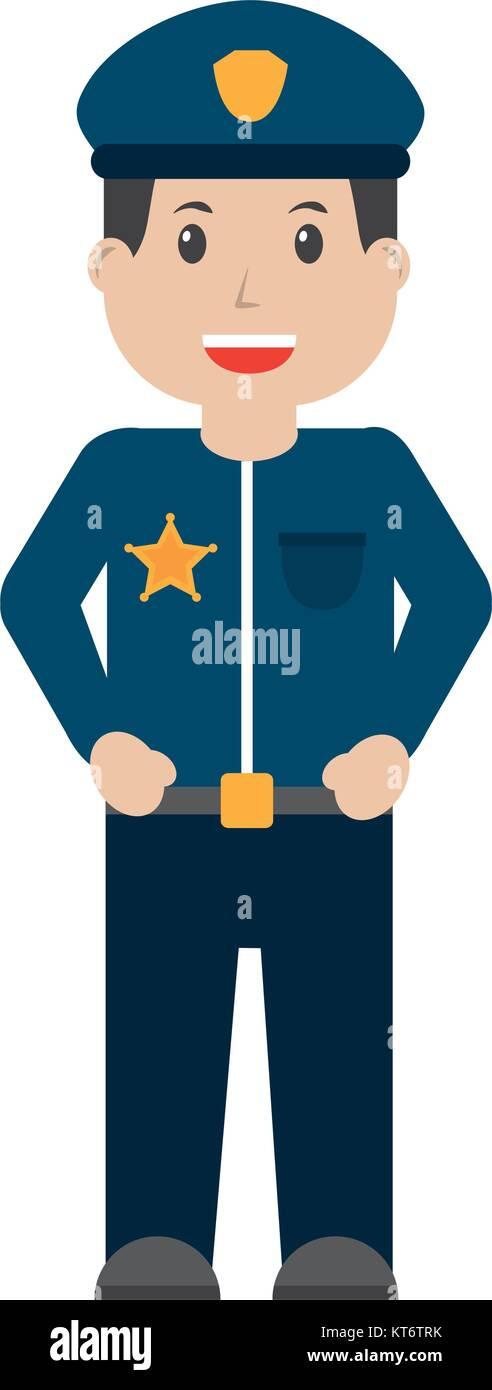 police icon image  - Stock Image