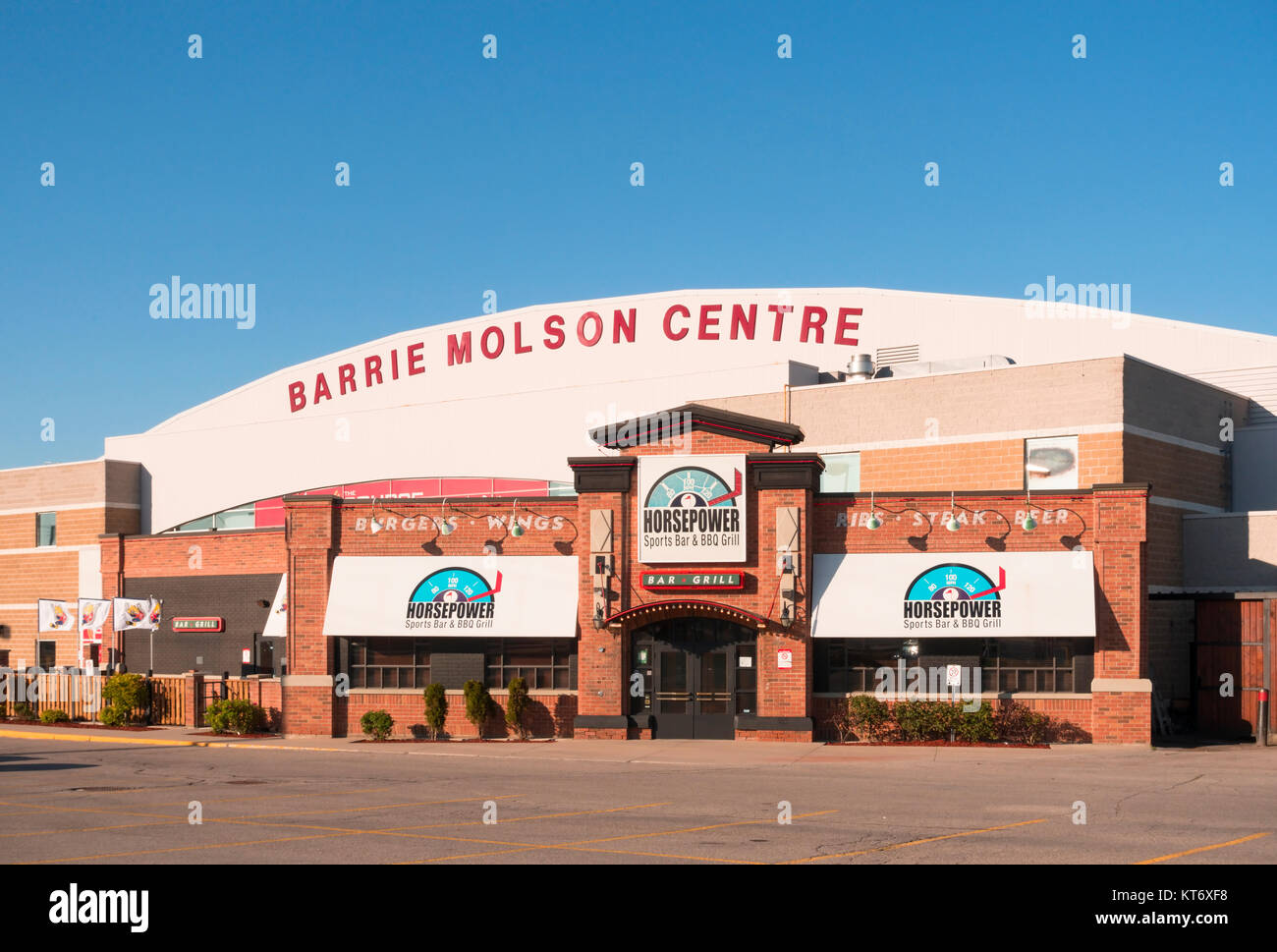The Barrie Molson Centre in Barrie, Ontario, Canada. - Stock Image