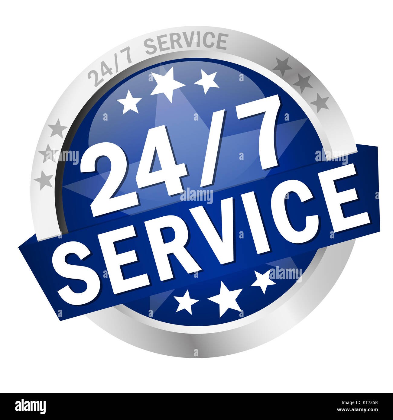 button 24/7 service Stock Photo