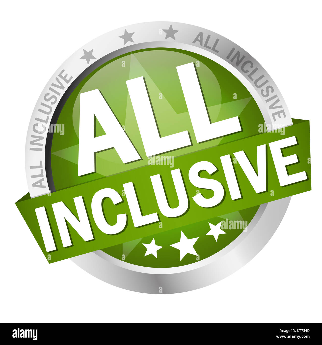 button with text all inclusive Stock Photo