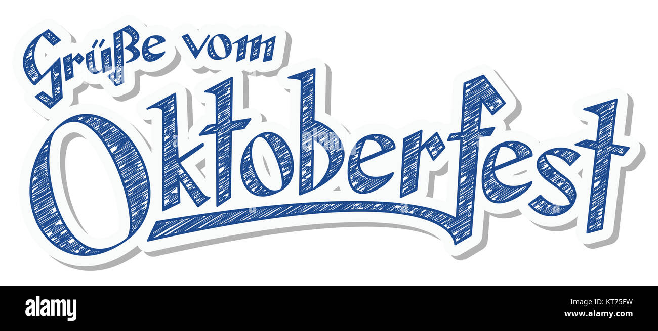 Blue and white header with scribble pattern and text greetings from blue and white header with scribble pattern and text greetings from oktoberfest 2016 in german m4hsunfo