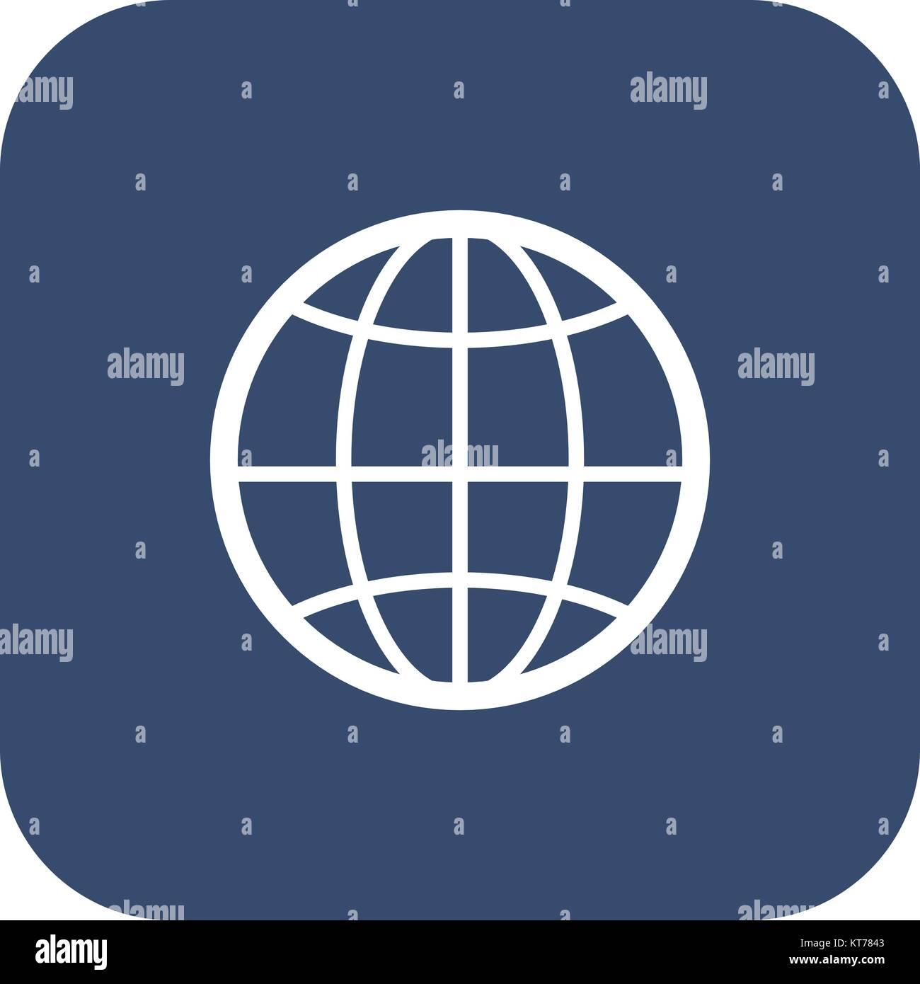 The globe icon  Globe symbol  Flat Vector illustration Stock