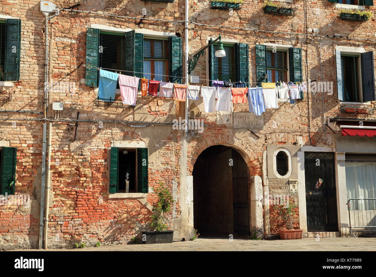 Clothesline, Campo Santa Margherita - Stock Image