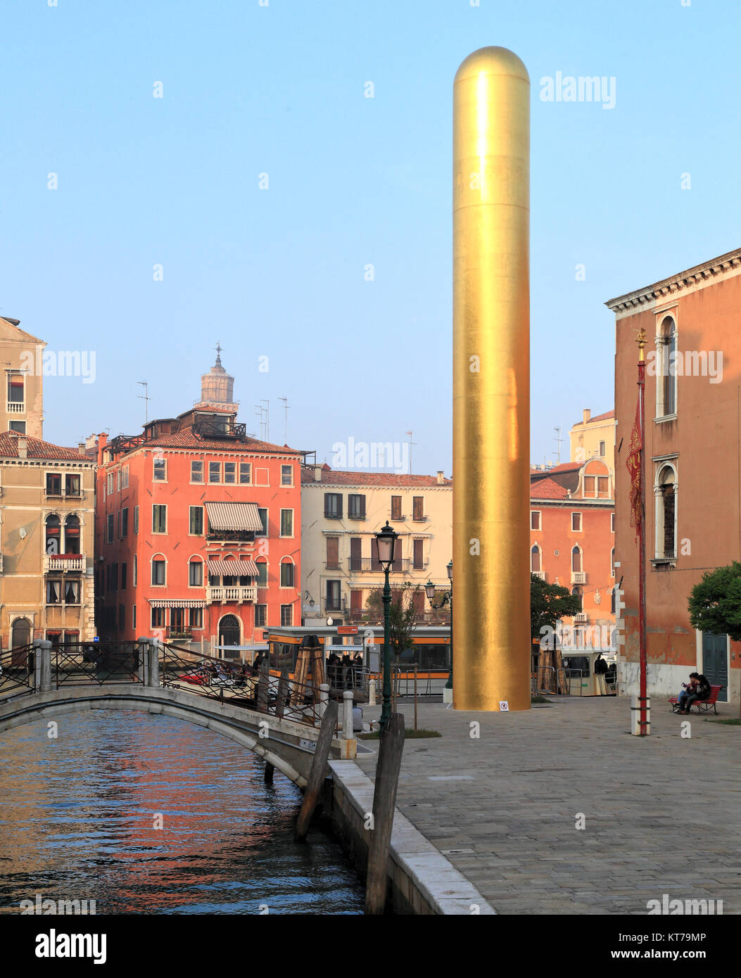 The Golden Tower by James Lee Byars, Venice Biennale 2017 - Stock Image