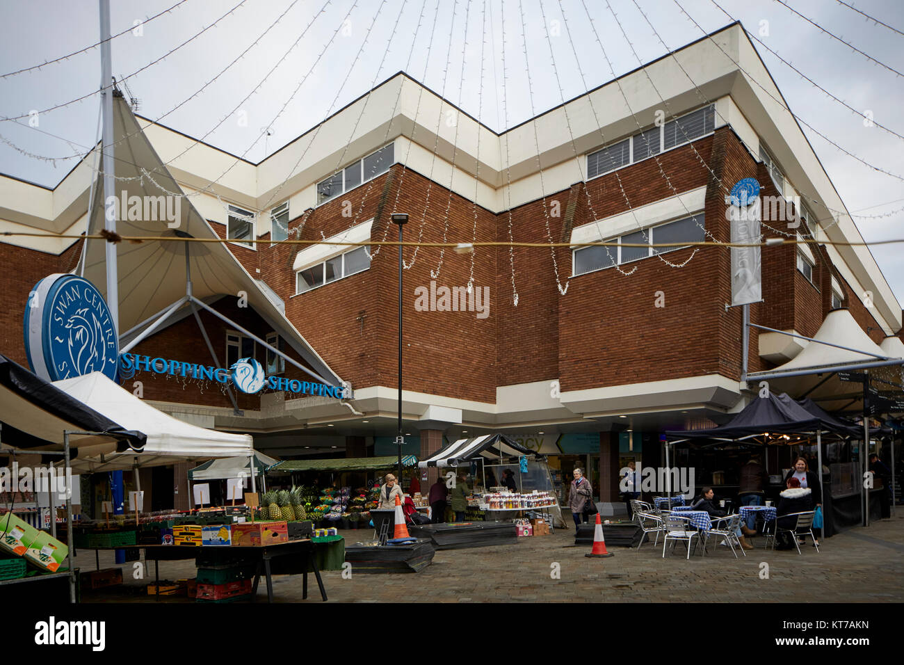 Entrance to Swan Shopping Centre in Kidderminster, Worcestershire, the the heart of the town centre - Stock Image