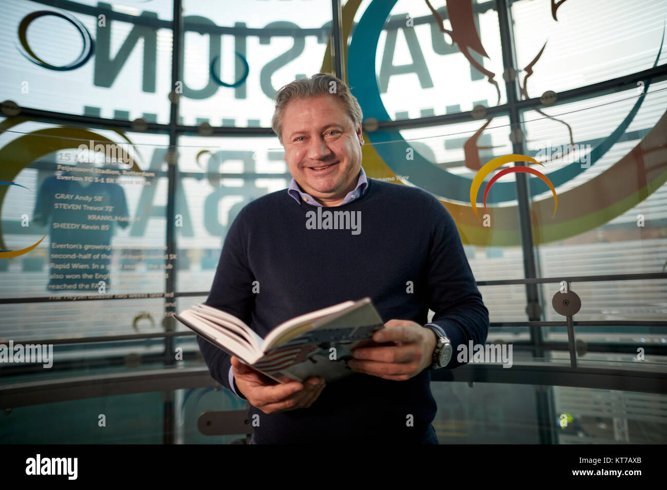 TIM RICH launches his latest football book an autobiography for  Andrei Kanchelkis MUFC legend Russian professional - Stock Image