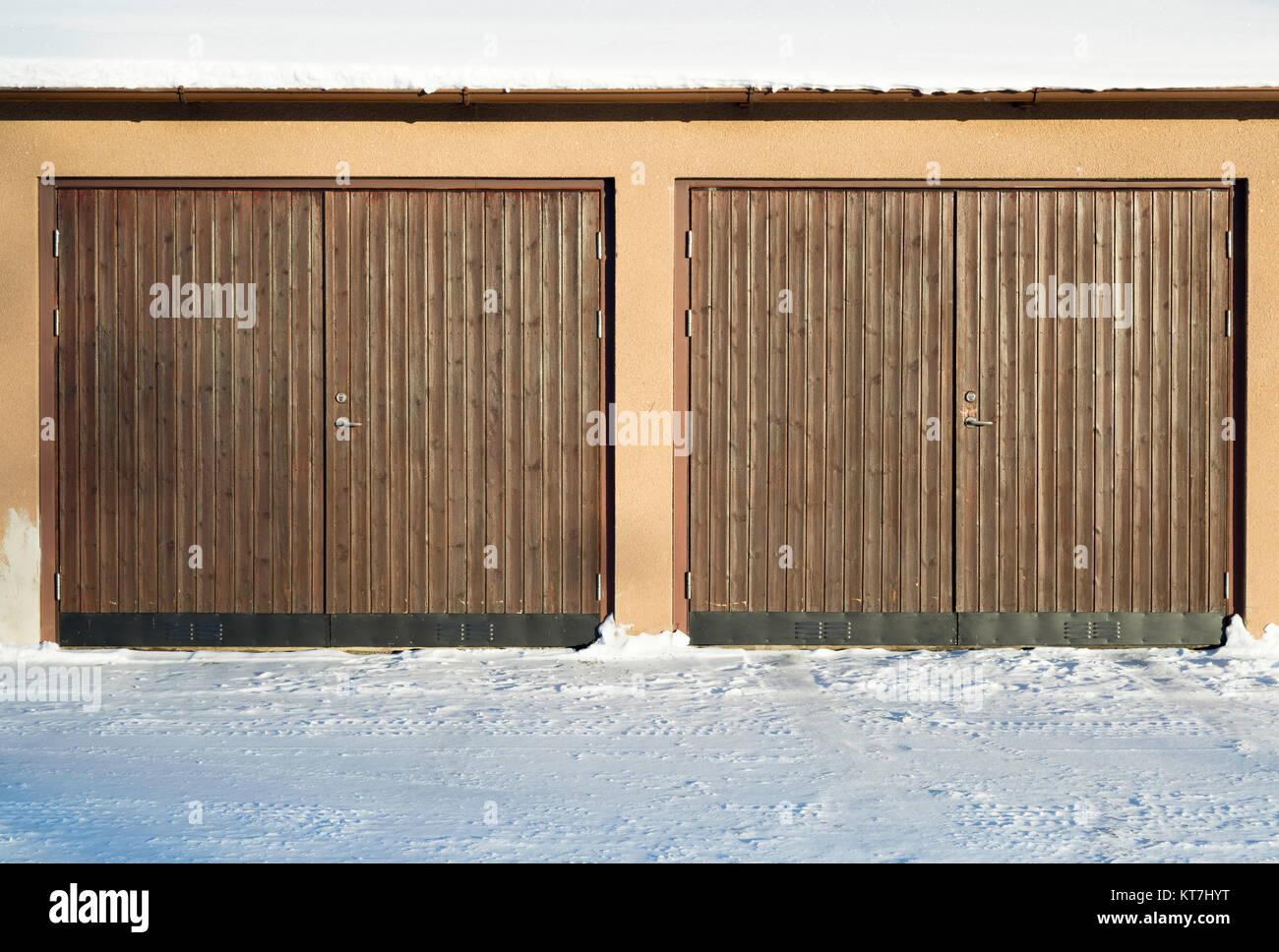 Wooden Garage Doors Stock Photos Wooden Garage Doors Stock Images