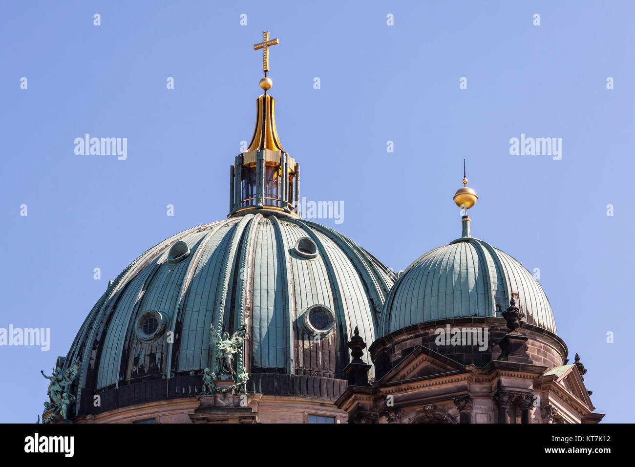the dome of the berlin cathedral - Stock Image