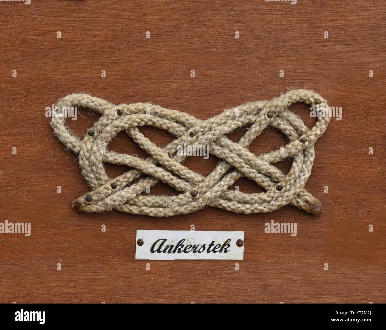 Ankerstek, Seemannsknoten - Stock Image