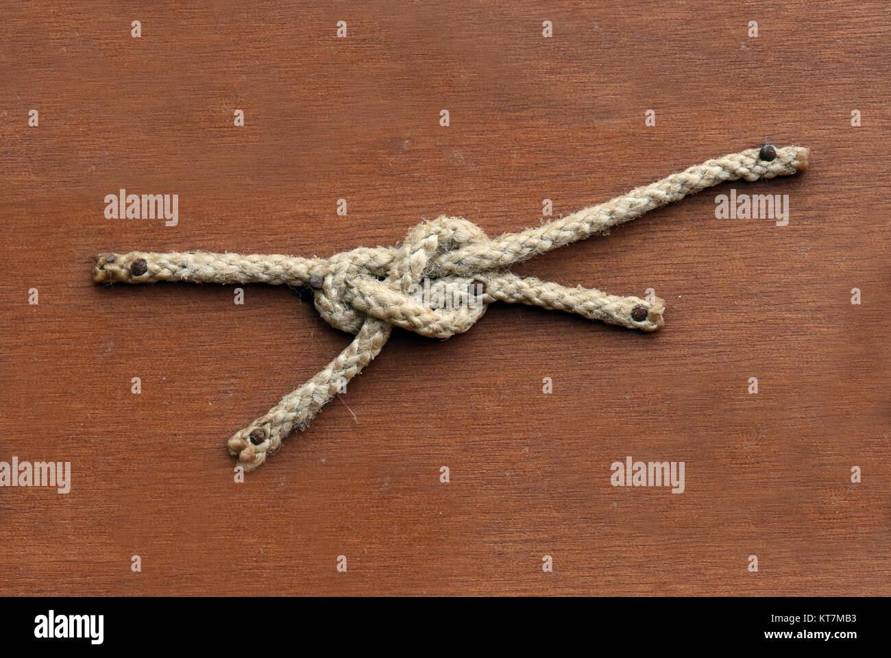 Schotstek, Seemannsknoten - Stock Image