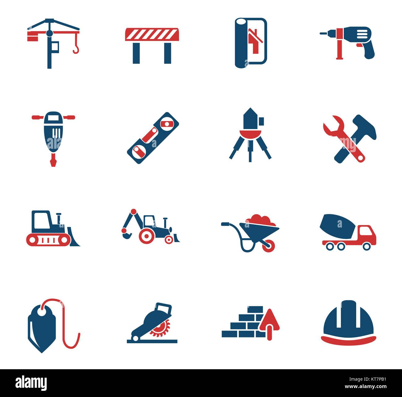 construction icon set - Stock Image