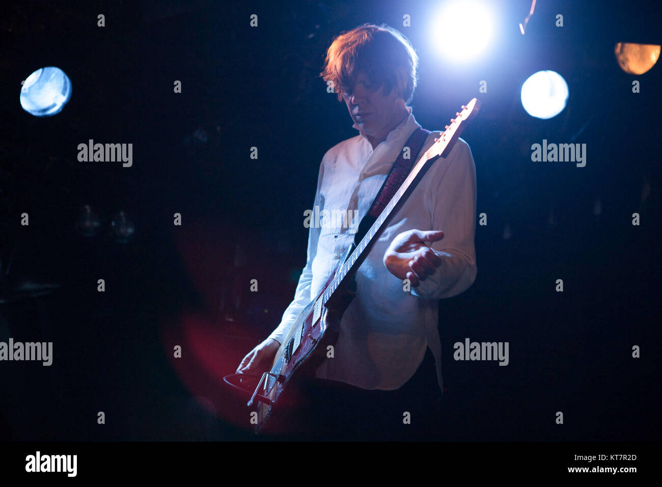 The American singer, songwriter and musician Thurston Moore is best known as the singer and guitarist of the rock Stock Photo