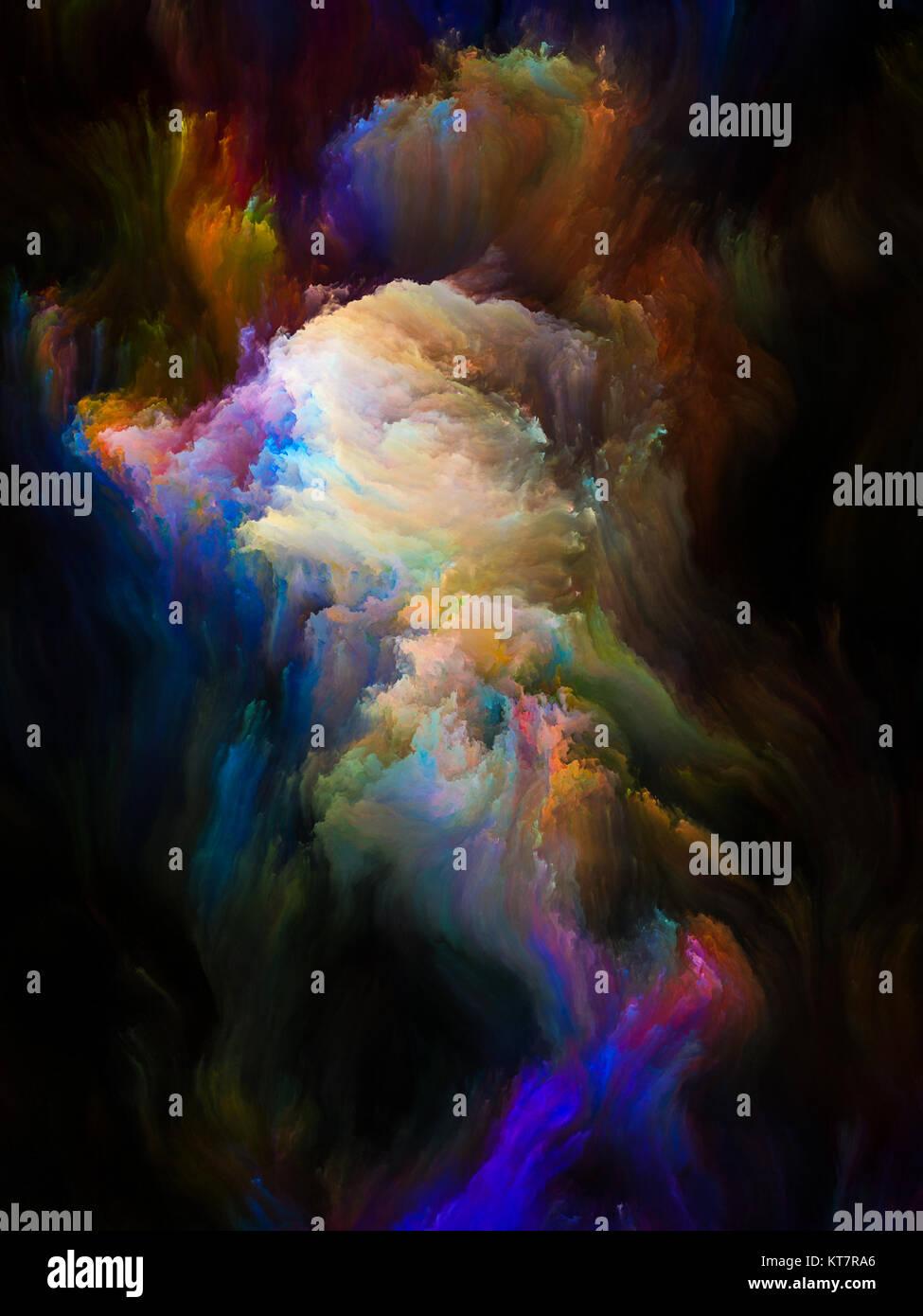 Colorful Fractal Brush - Stock Image
