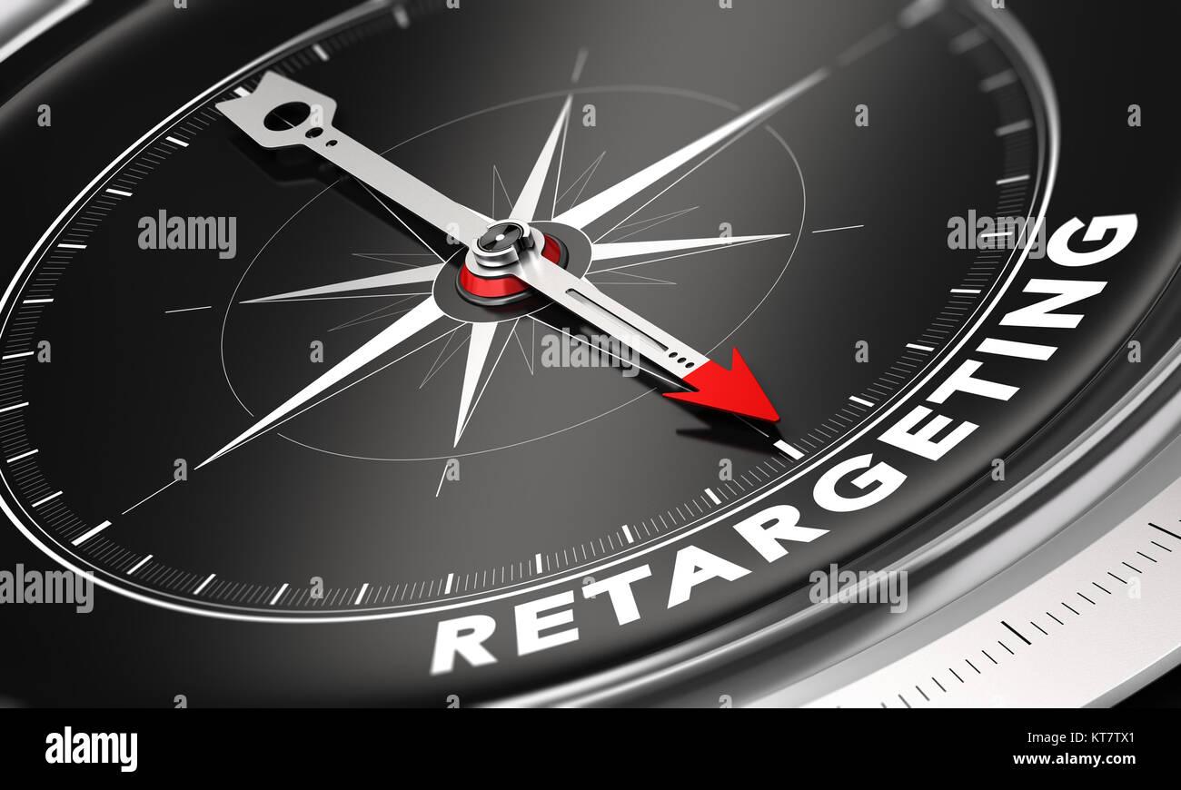 Behavioral Retargeting or Remarketing Concept - Stock Image