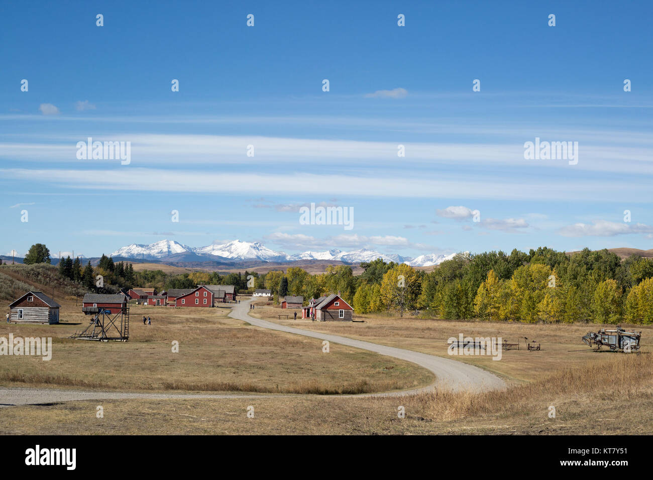 Bar U Ranch National Historic Site, a former working ranch in the Rocky Mountain foothills - Stock Image