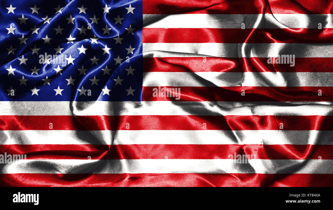 65ffa1d6cf2820 American flag grunge looking and waving in the wind 3D illustration - Stock  Image