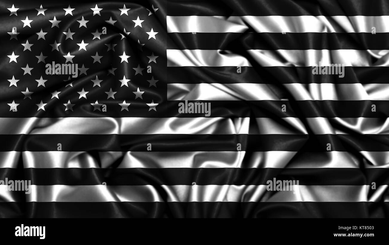 Abstract American Flag Background Black And White Stock Photos