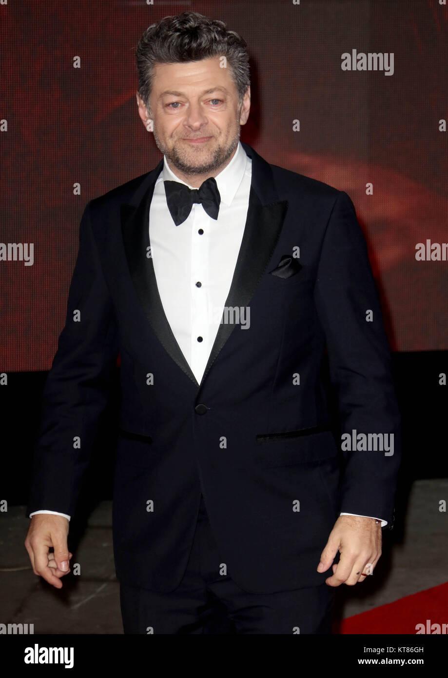 Dec 12, 2017 - Andy Serkis attending 'Star Wars: The Last Jedi' European Premiere at Royal Albert Hall  - Stock Image