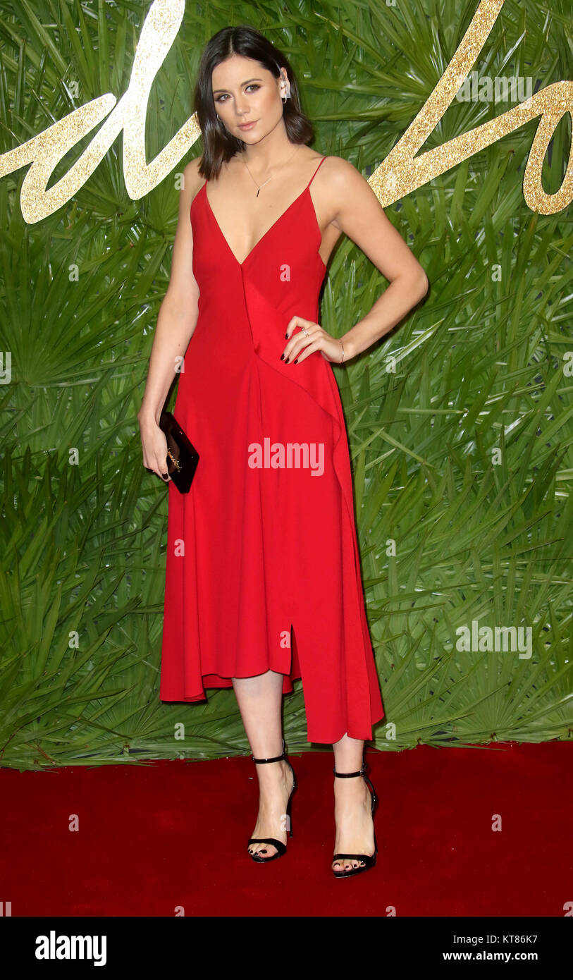 Dec 4, 2017 - Lilah Parsons attending The Fashion Awards 2017 at Royal Albert Hall in London, England, UK - Stock Image