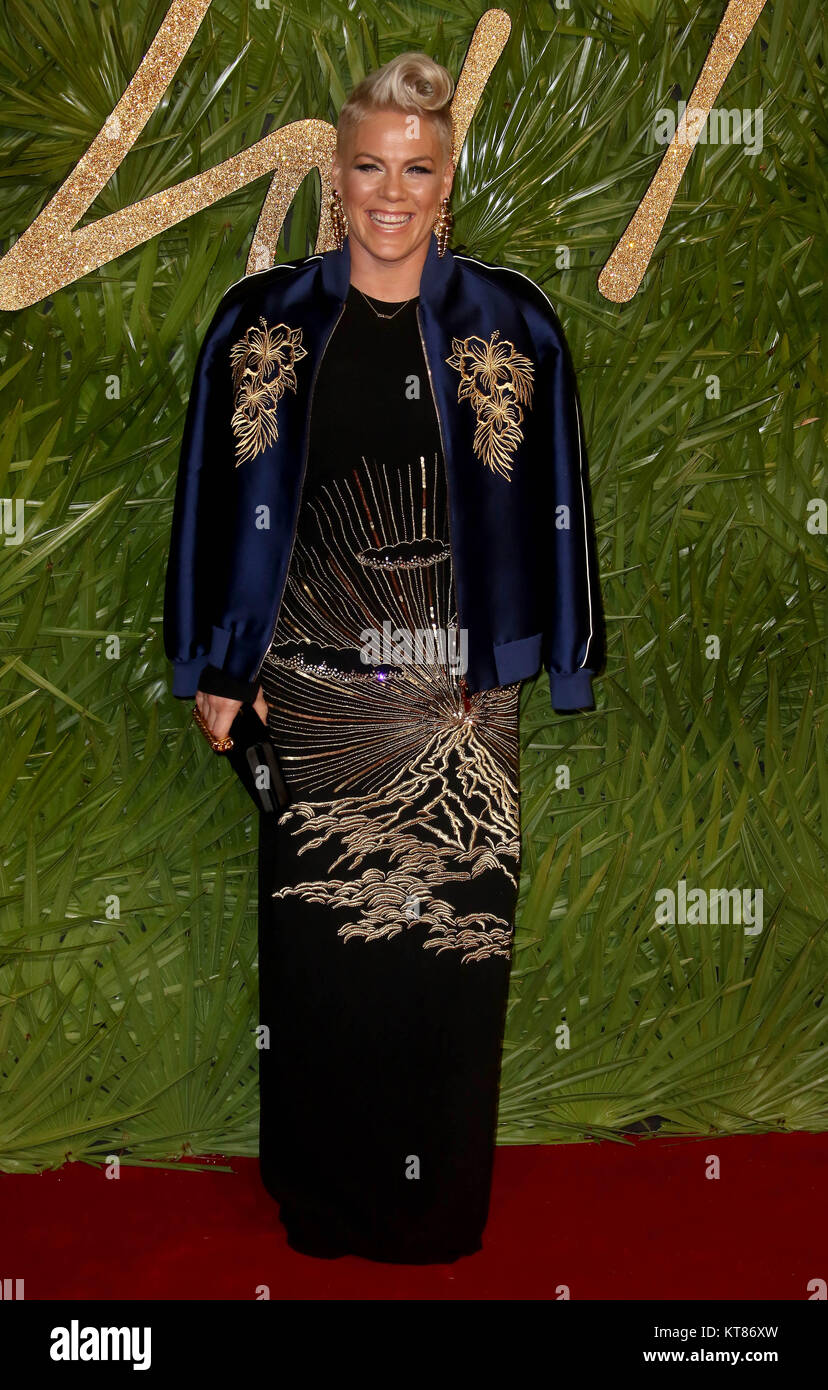 Dec 4, 2017 - Pink attending The Fashion Awards 2017 at Royal Albert Hall in London, England, UK - Stock Image