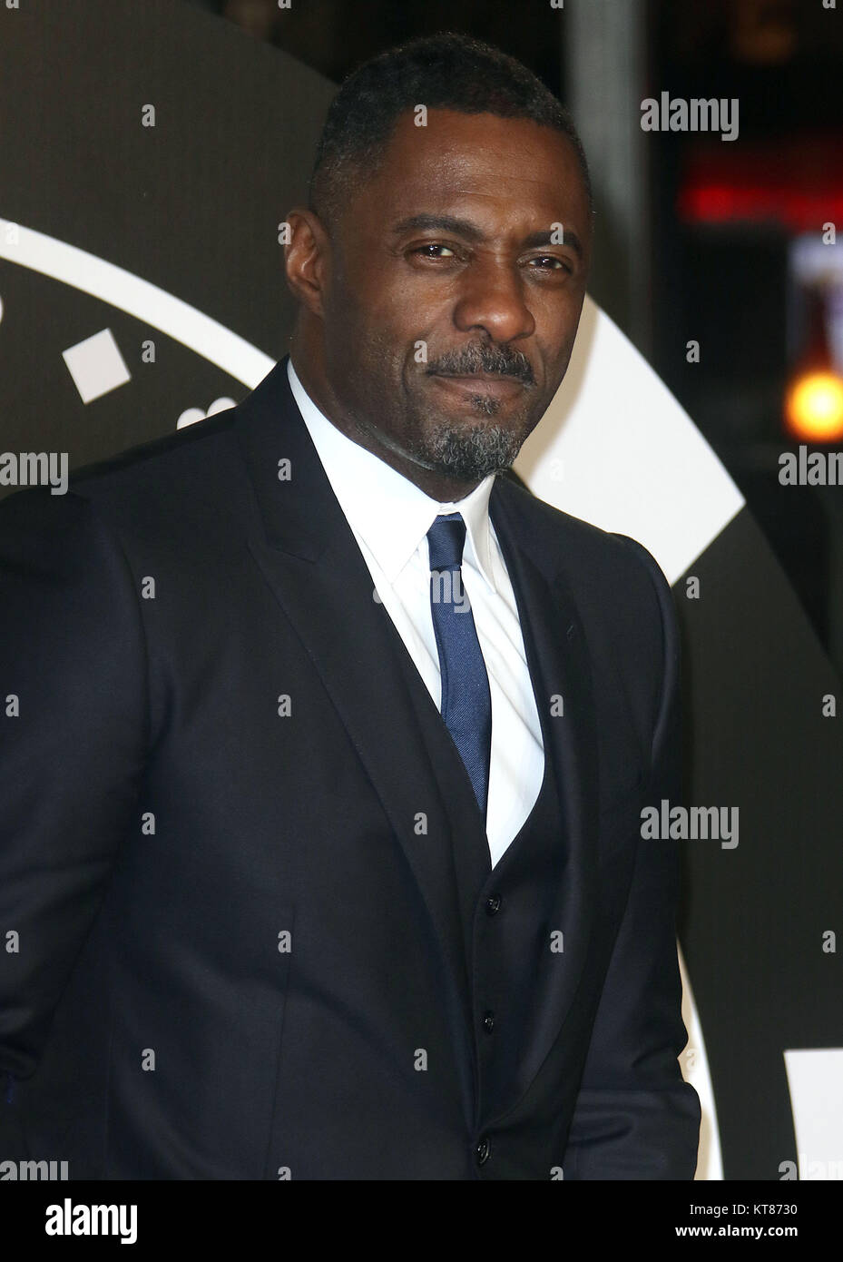 Dec 6, 2017 - Idris Elba attending 'Molly's Game' UK Premiere, Vue West End, Leicester Square in London, England, Stock Photo