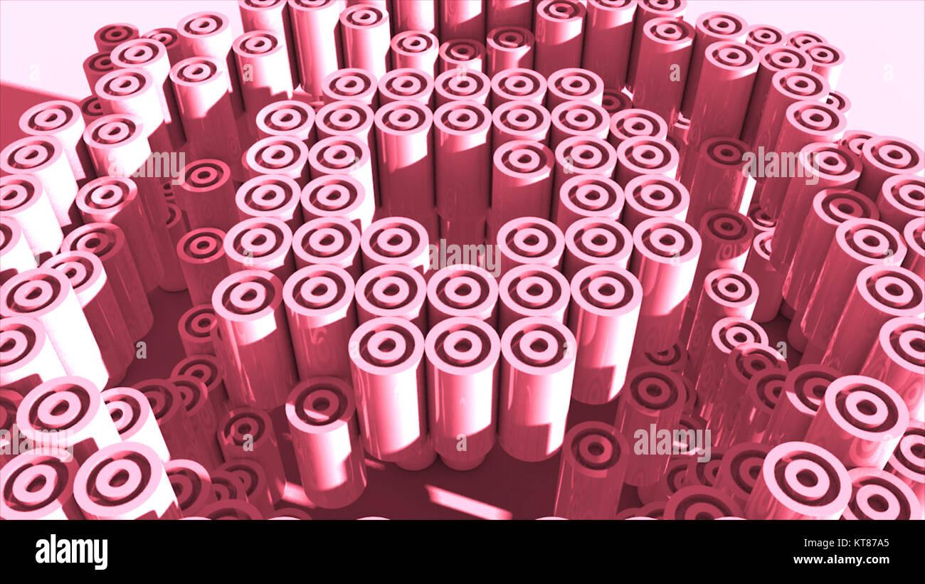 3d rendering cylinder backdrop. - Stock Image
