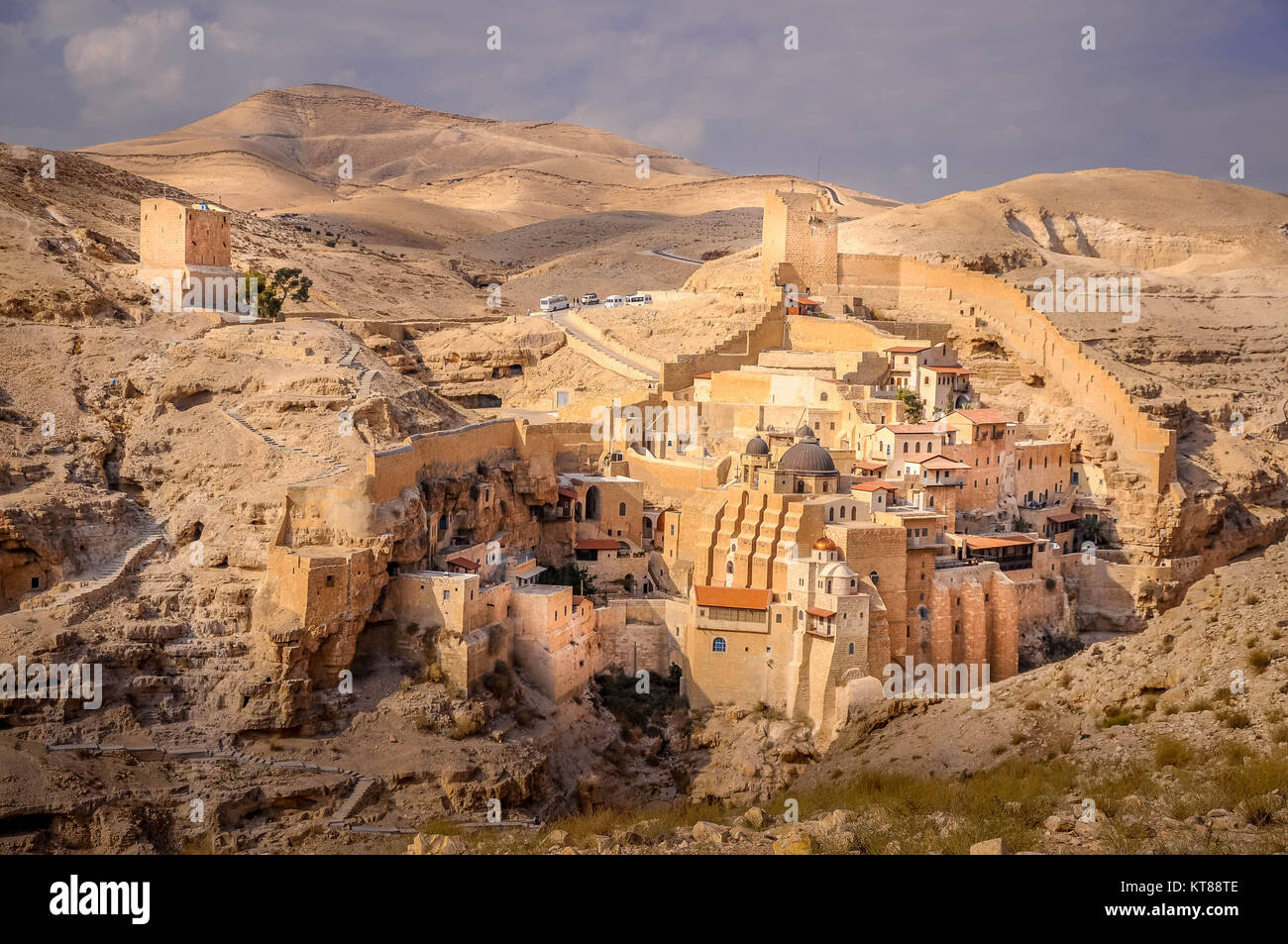 Holy Lavra of Saint Sabbas the Sanctified, known in Arabic as Mar Saba - Stock Image