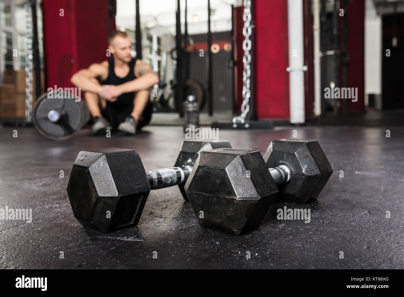Close-up Of A Pair Of Dumbbell - Stock Image
