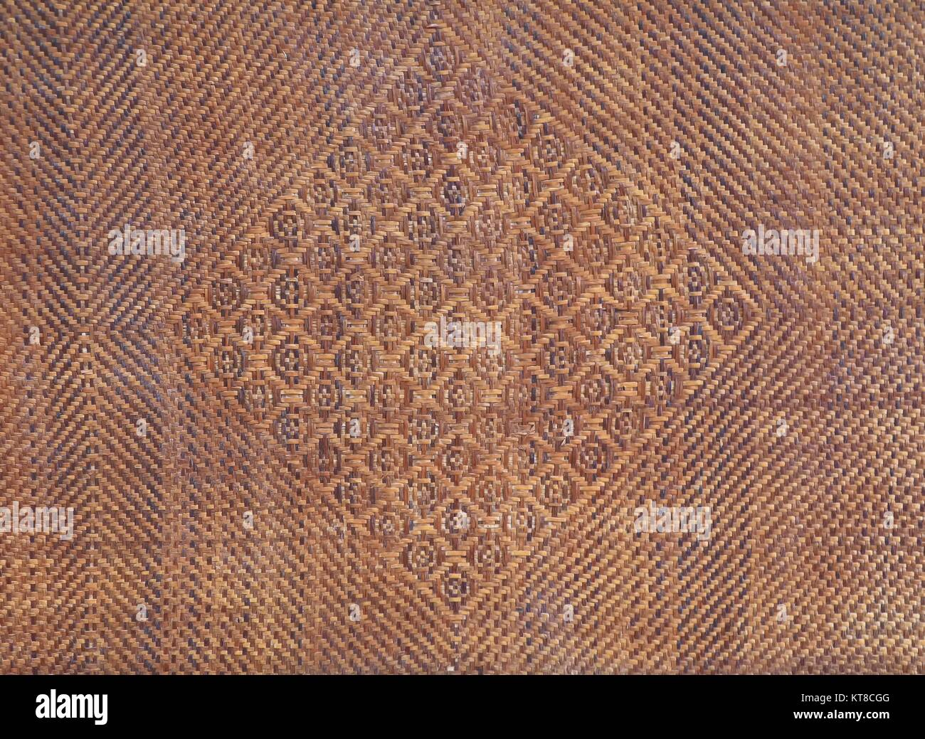 Bamboo Weave  texture ancient pattern thai style   background and space for add text Stock Photo