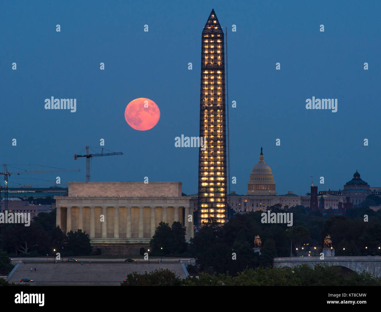 A full moon, known as a Harvest Moon, rises over Washington, Thursday, Sept. 19, 2013, in Washington. Photo Credit: - Stock Image