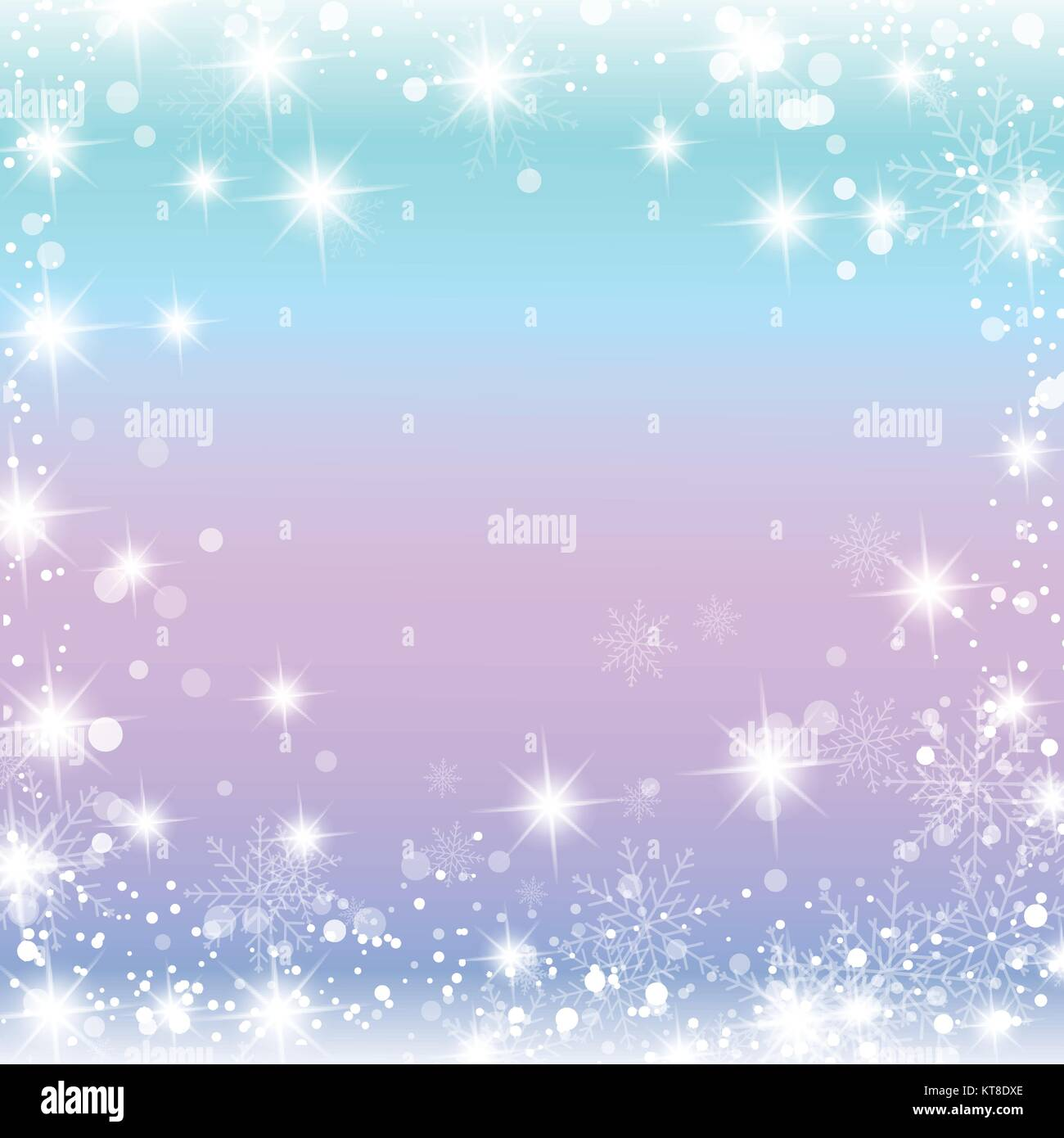 Beautiful, gentle winter background with snowflakes, stars. For postcards, invitations, business cards discount - Stock Vector