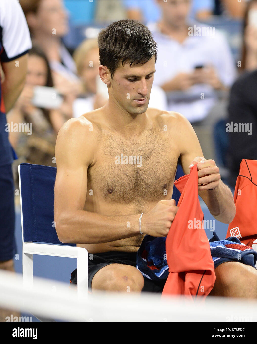 SMG_Novak Djokovic_FL5_US Open_Day2_Adds_082713_07.JPG  FLUSHING, NY - AUGUST 27: Novak Djokovic on Day Two of the - Stock Image