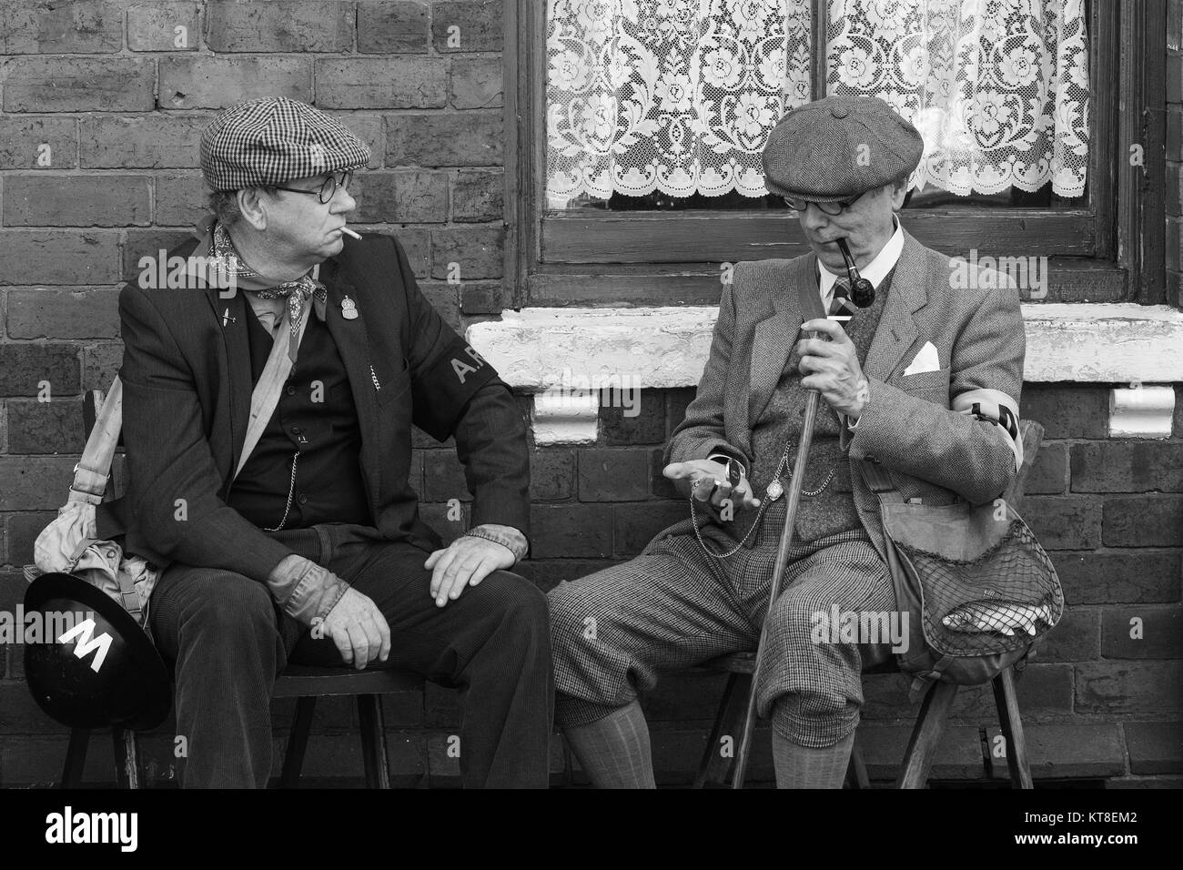 1940s Re-enactor at the Black Country Living Museum in Dudley, England, UK - Stock Image