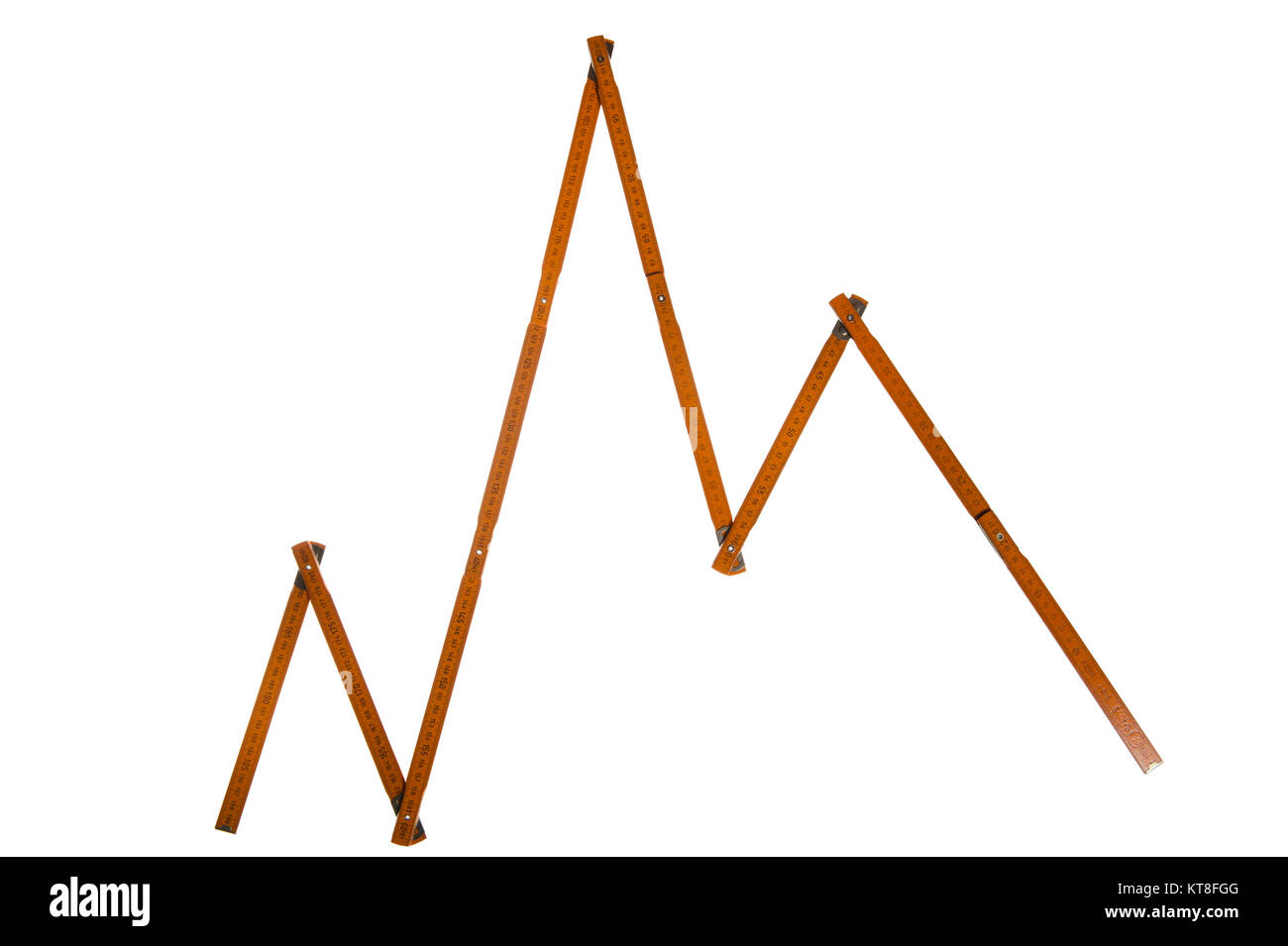 Concept of statistical graph - Stock Image