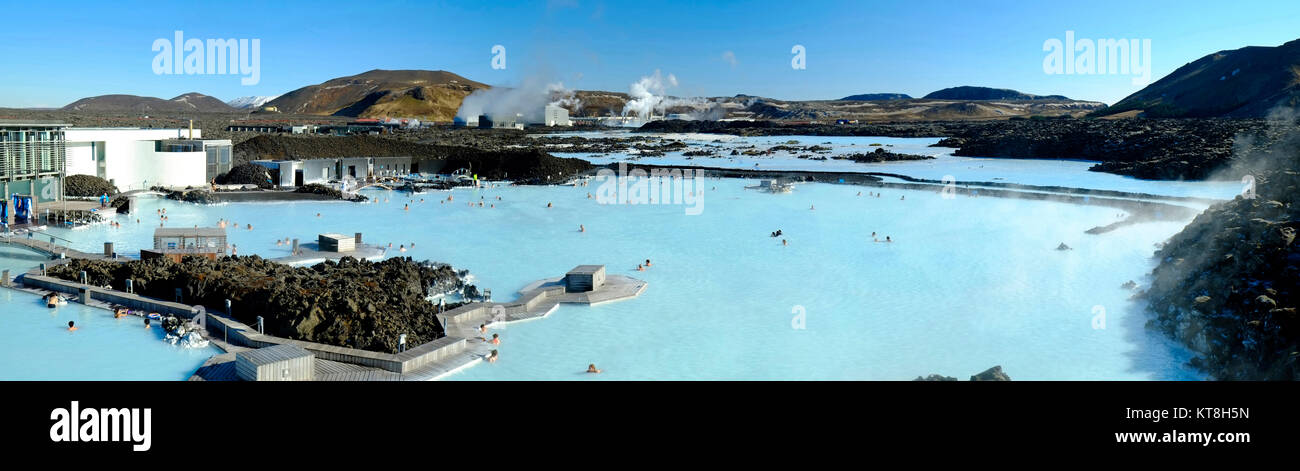 Geothermal Spa, Reykjavik, Iceland, Polar Region - Stock Image