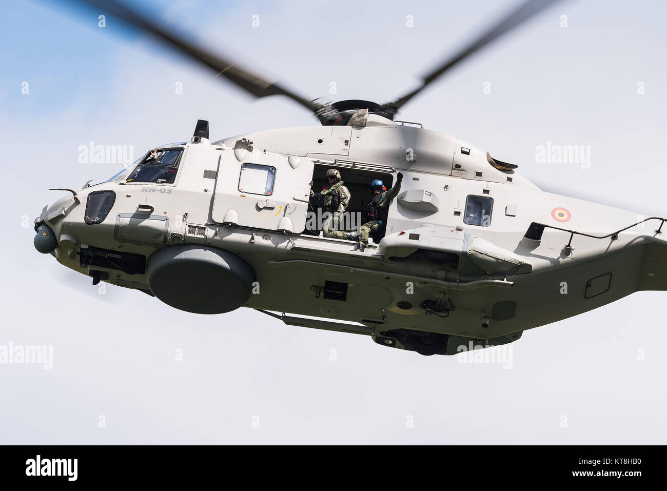 A NH90 NFH rescue helicopter of the Belgian Air Force. - Stock Image