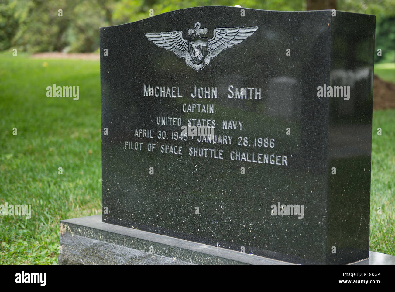 Capt. Michael J. Smith, buried in Section 7A, grave 208-1 of Arlington National Cemetery, was killed in the Jan. - Stock Image