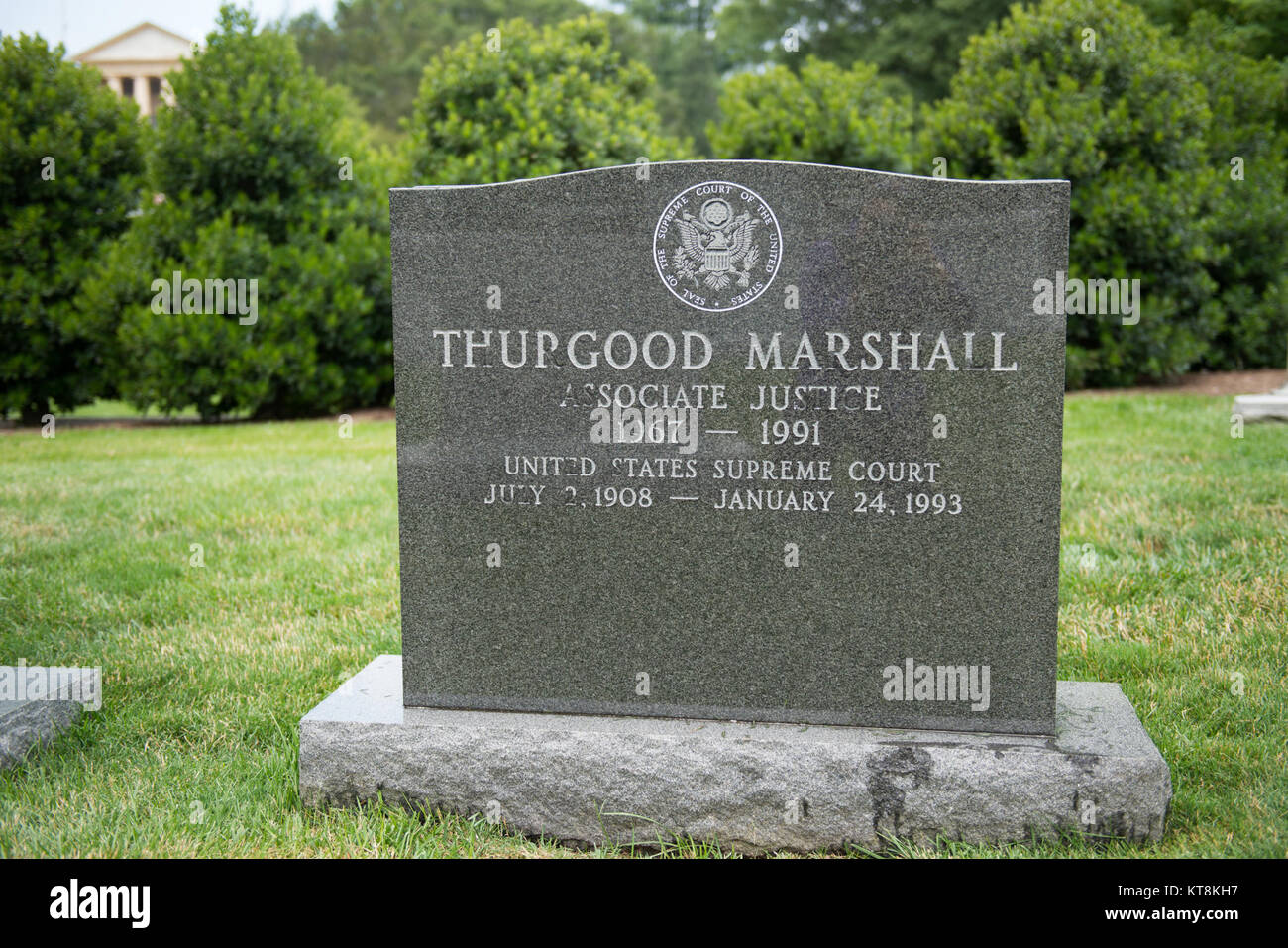 Justice Thurgood Marshall, Section 5, Grave 40-3, was appointed to the Supreme Court in 1967 by President Lyndon - Stock Image