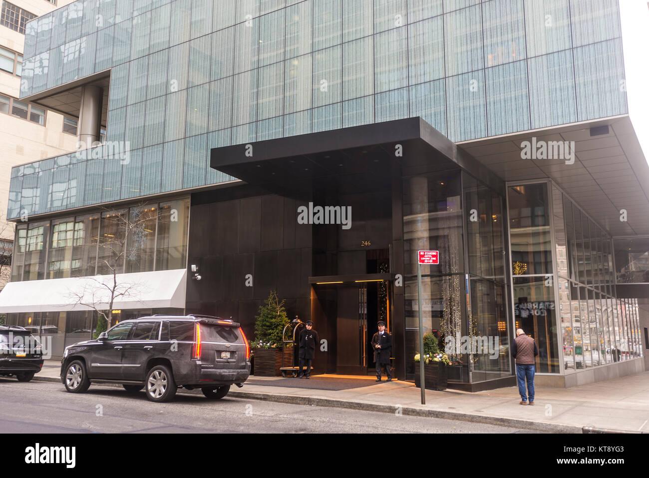 New York Ny Usa 22 December 2017 The Trump Soho Hotel At 246 Stock Photo Alamy