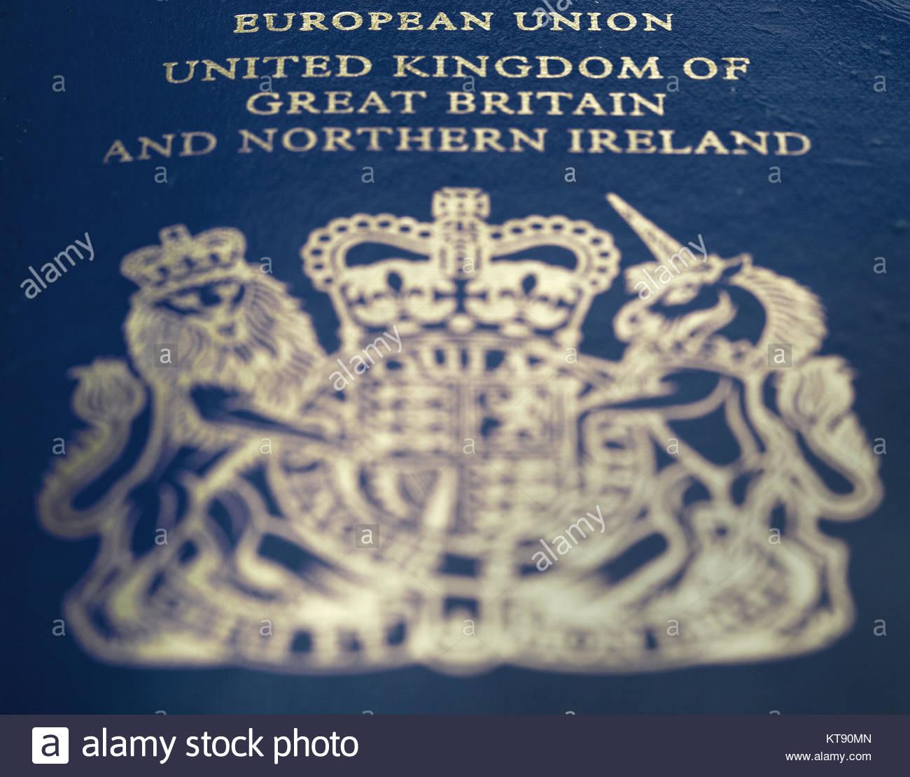 Passport British Passport Biometric Passport Stock Photos
