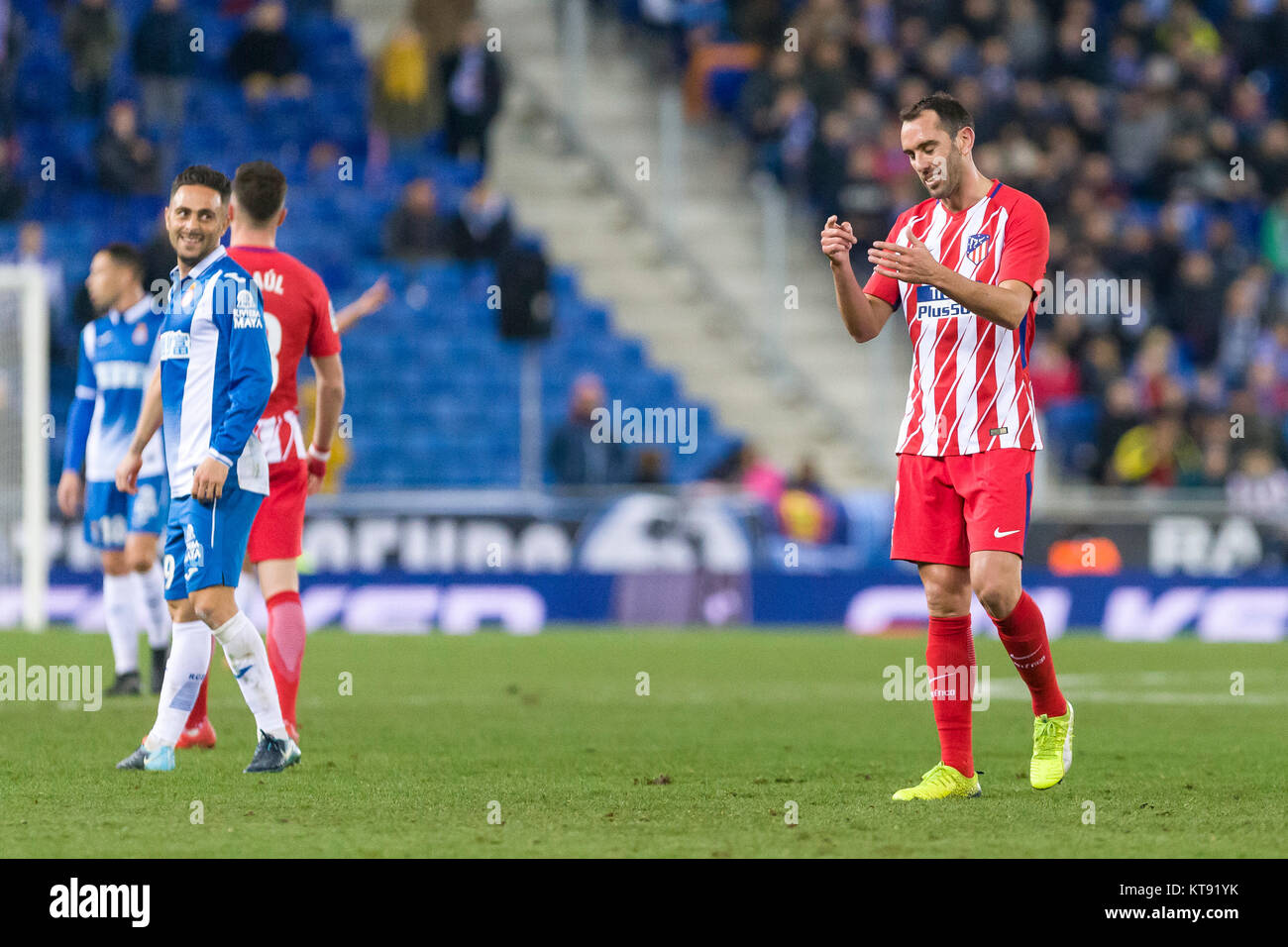 Spain December 22nd Atlético Madrid Defender Diego Godin 2 Stock Photo Alamy
