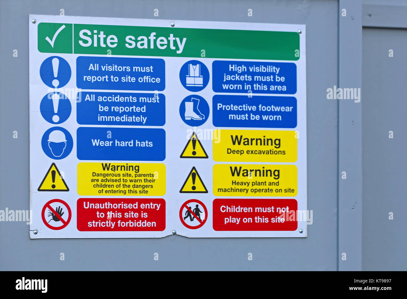 Construction Site Safety - Stock Image