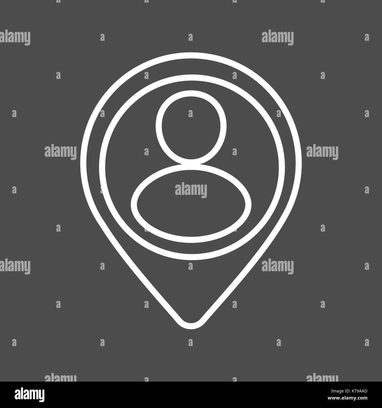 Location icon vector. Line - Stock Vector