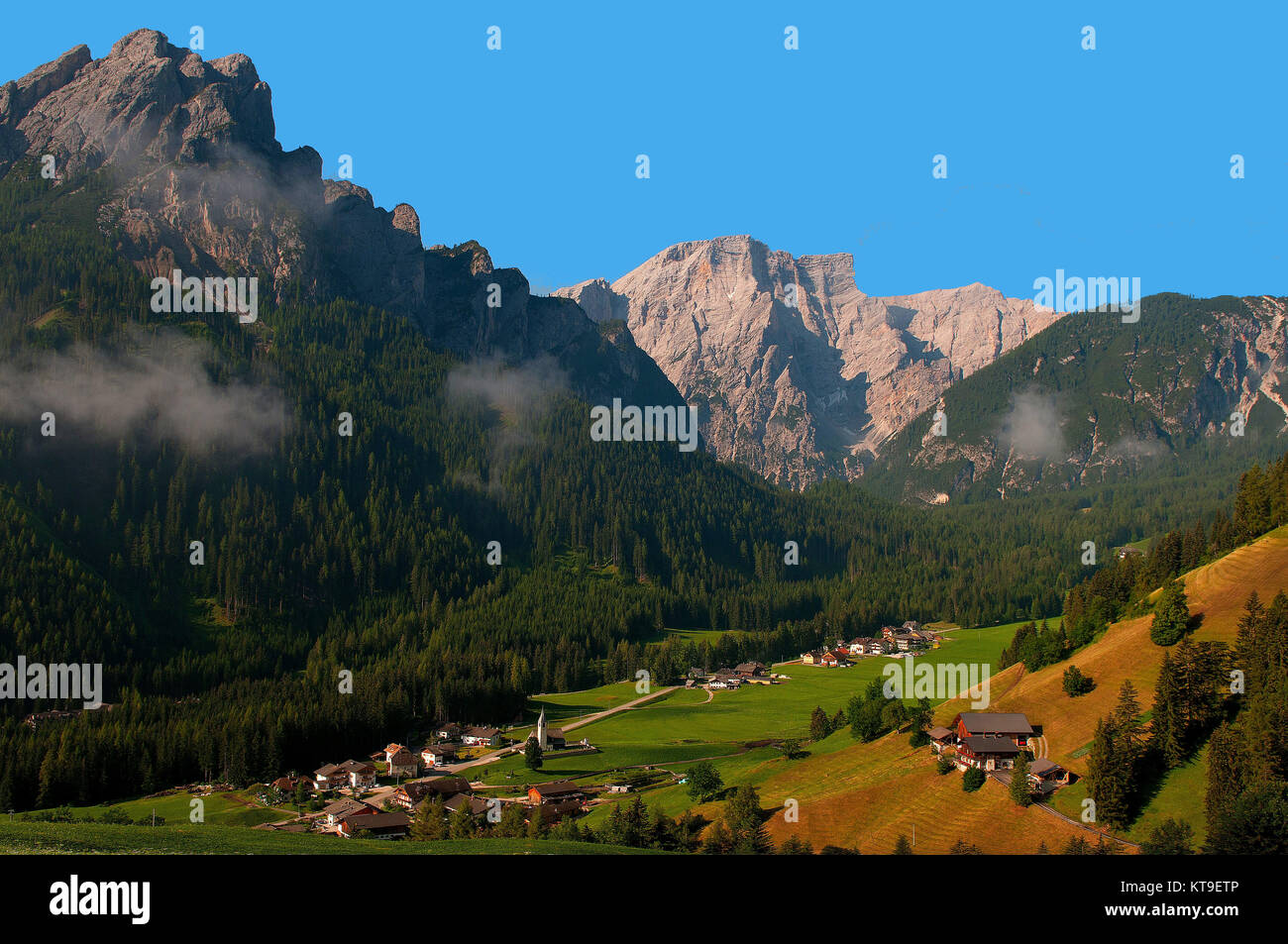 Prague Valley, Dolomites, South Tirol, Italy, Prague Dolomites, Nature Park Fanes-Sennes-Prague, Community St. Veit, - Stock Image