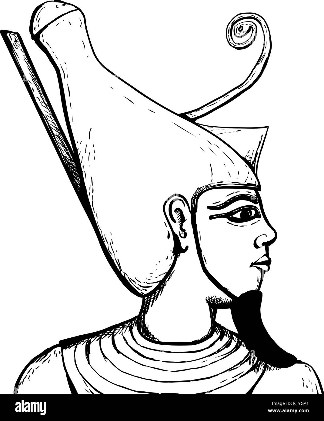 ancient egyptian art black and white stock photos images alamy 13 Century Man outlined view of egyptian god atum stock image