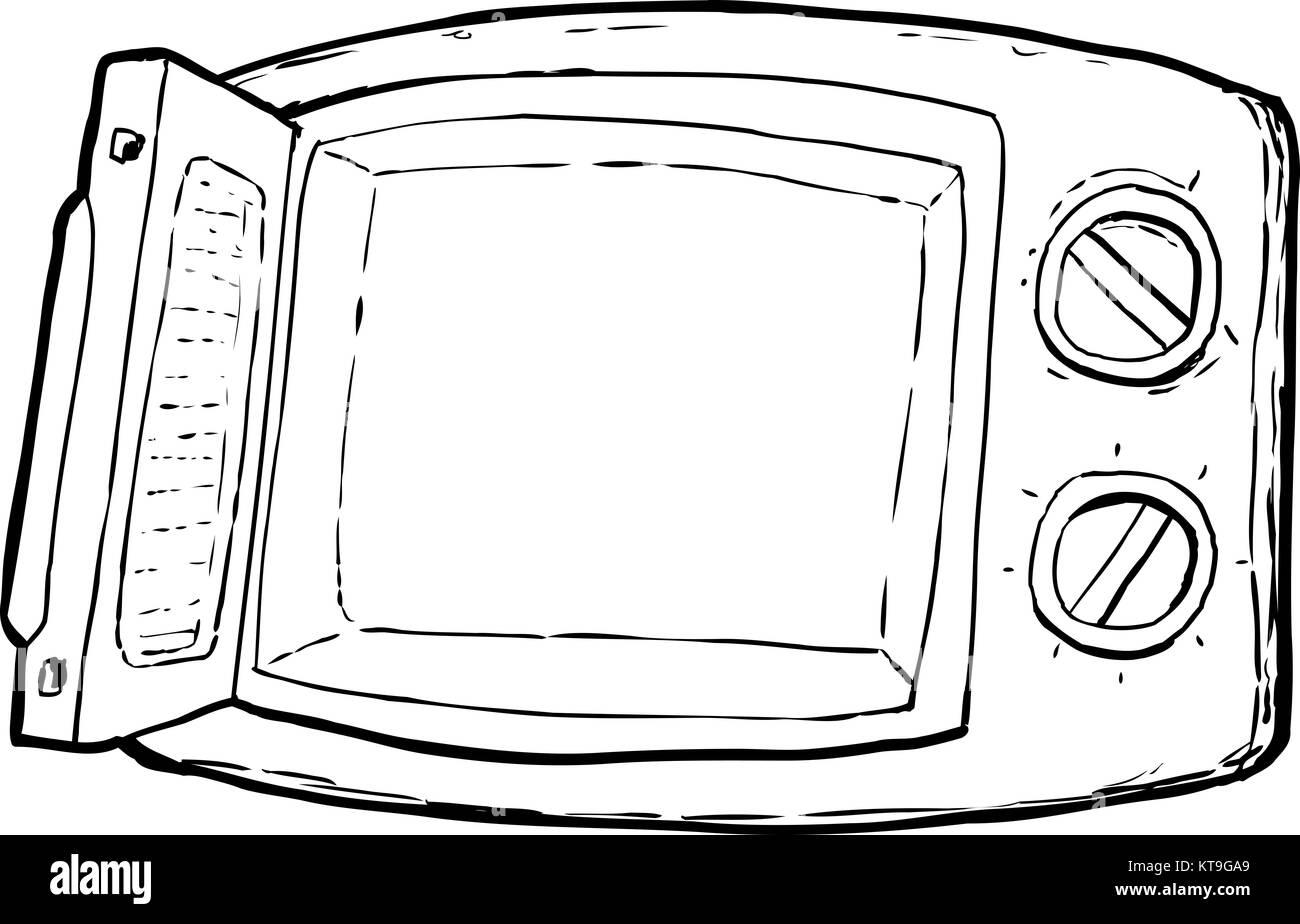 Cartoon Microwave Stoc...
