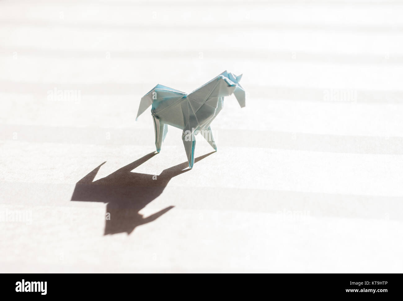 Origami Horse On Paper Field